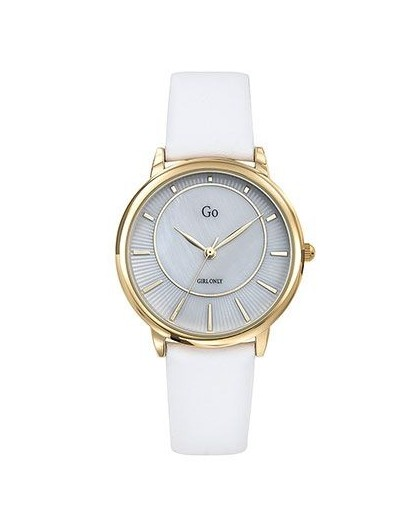 Montre GO Girl only 699323 cadran nacre cuir blanc