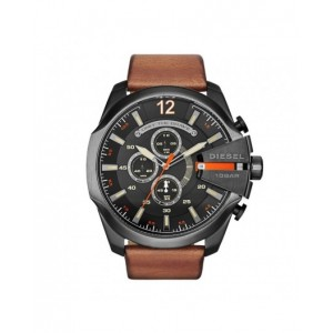 Montre Diesel DZ4343 Mega Chief cuir marron