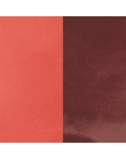 Cuir Les Georgettes 14mm prune vernis/corail
