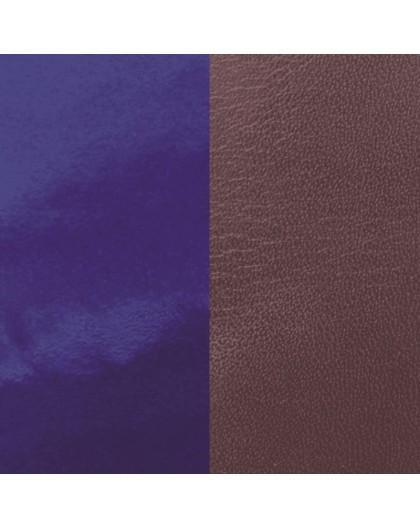 Cuir Les Georgettes 14mm prune/vernis bleu