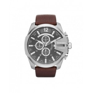 Montre Diesel DZ4290 mega chief homme cuir marron