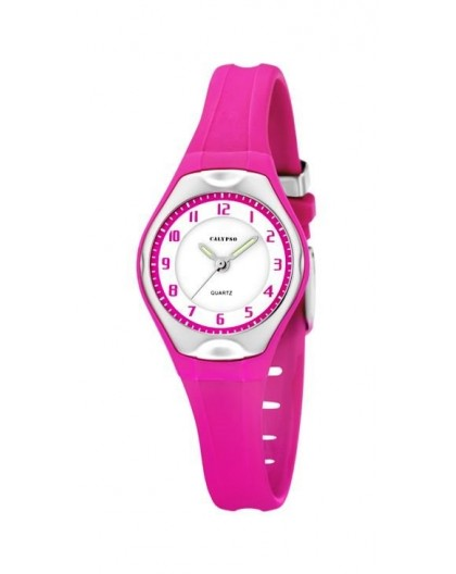Montre Calypso K5163/K bracelet fushia