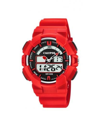 Montre Calypso K5772/2 double affichage rouge