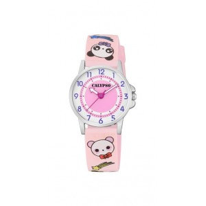 Montre Calypso K5775/4 Kawaii bracelet rose