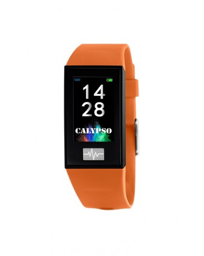 Montre Calypso K8500/3 connectée bracelet orange
