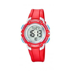 Montre Calypso K5739/1 digital bracelet rouge