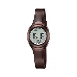 Montre Calypso K5677/6 digital bracelet marron