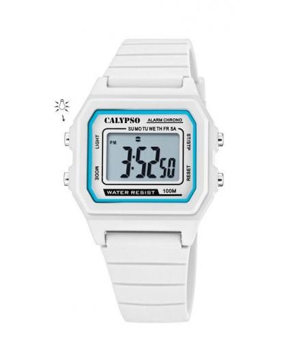 Montre Calypso K5805/1 kids bracelet blanc