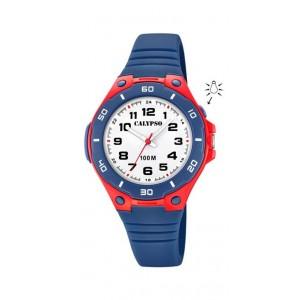 Montre Calypso K5758/1 enfant bracelet bleu