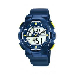 Montre Calypso K5771/3 enfant bracelet bleu