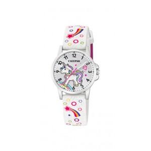 Montre Calypso K5776/4 enfant bracelet blanc