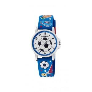 Montre Calypso K5790/1 enfant bracelet bleu foot