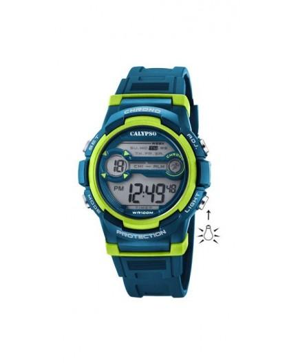 Montre Calypso K5808/3 enfant bracelet bleu