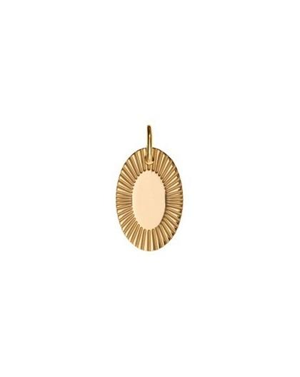 Médailles plaqué or Saunier motif soleillé