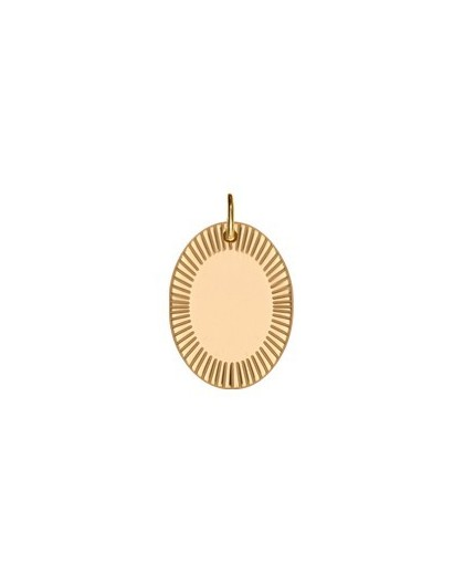 Médaille plaqué or Saunier motif soleillé large