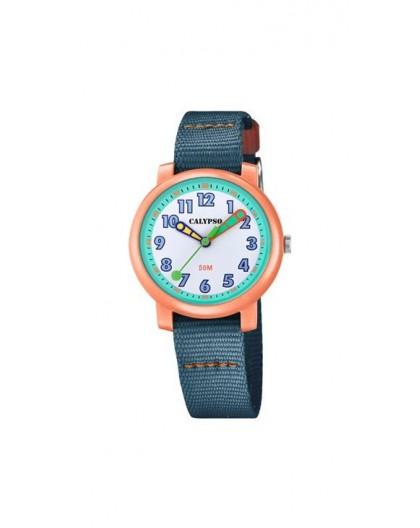 Montre Calypso K5811/2 enfant bracelet bleu
