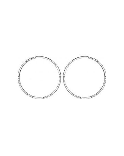 Boucles argent Saunier cercles oxydes grand modèle