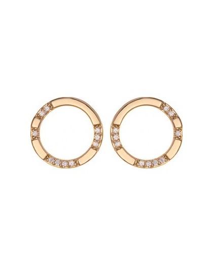 Boucles plaqué or Saunier cercles oxydes
