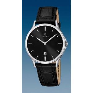Montre Festina F16745/5 chic cuir noir fond noir