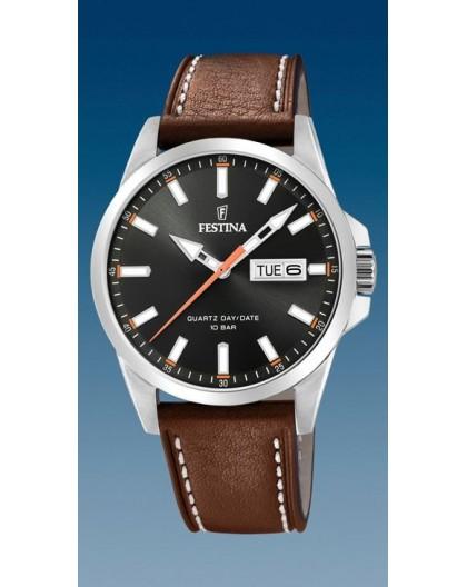 Montre Festina F20358/2 dateur jour cuir