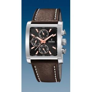 Montre Festina F20424/4 chrono rectangulaire