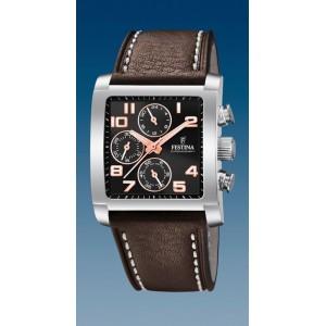 Montre Festina F20424/7 chrono rectangulaire