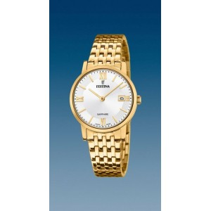Montre Festina F20021/1 femme plaqué or swiss made