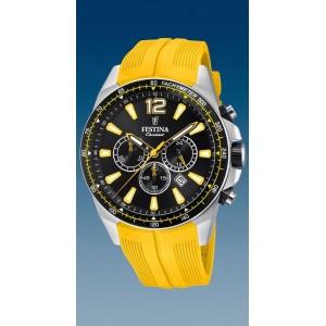 Montre Festina F20376/4 homme chrono brac jaune