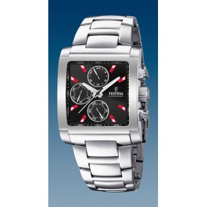 Montre Festina F20423/8 homme chrono rectangulaire