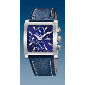 Montre Festina homme F20424-2 chrono cuir bleu