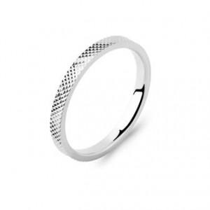 Alliance argent 2mm finition diamantée pointillée