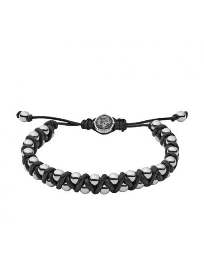 Bracelet Diesel bijoux DX1109040 acier et cuir