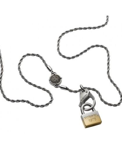 Collier Diesel bijoux DX1203040 homme cadenas