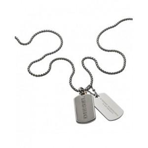 Collier Diesel bijoux DX1194040 plaques militaires