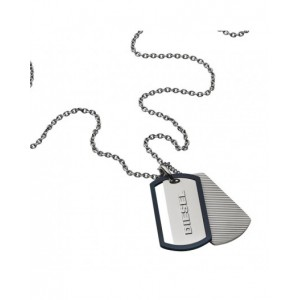 Collier Diesel bijoux DX1198040 plaques militaires