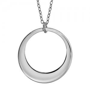 Collier Argent cercle simple gravable