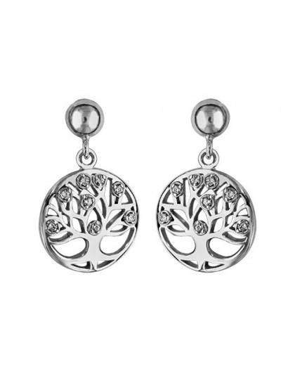 Boucles d'oreilles argent motif arbre de vie