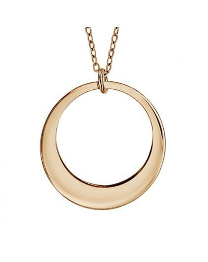 Collier plaqué Or motif cercle gravable