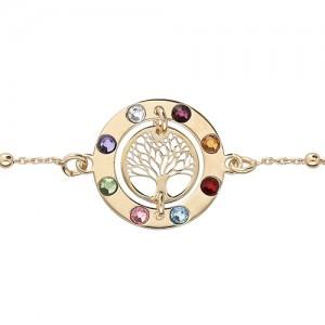 Bracelet plaqué or arbre de vie 7 chakras