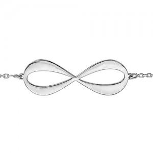 Bracelet argent infini gravable 4 prénoms
