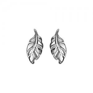 Boucles oreilles argent motif feuilles