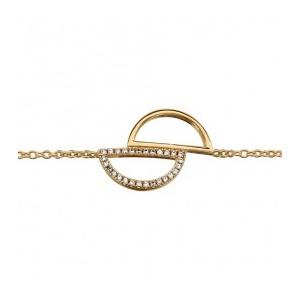 Bracelet plaqué or demi cercles oxydes