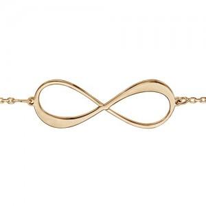 Bracelet plaqué or infini gravable 2 prénoms