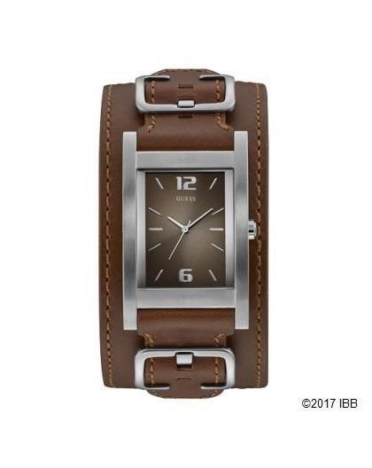 Montre Guess homme W1165G1 cuir marron