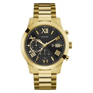 Montre Guess homme W0668G8 chrono plaqué or