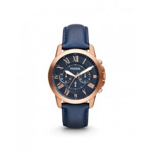 Montre Fossil FS4835IE cuir bleu