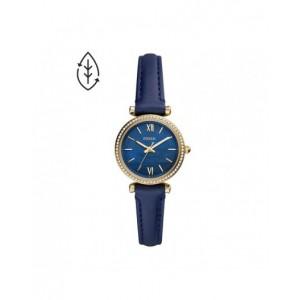 Montre Fossil ES5017 femme carlie mini cuir bleu