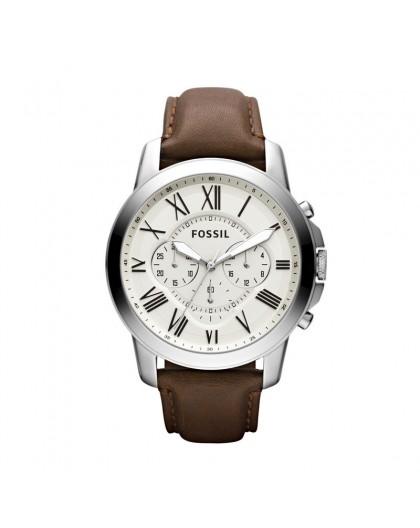 Montre Fossil FS4735IE Grant chrono cuir marron