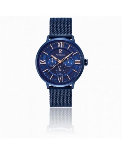 Montre Pierre Lannier 255F466 homme acier bleu