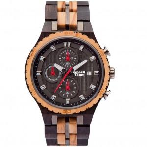 Montre Greentime chrono ZW106B homme en bois